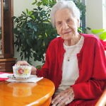 """Maria Burger im """"Wie daham…"""" Seniorenschlössl Donaustadt, im Februar 2021, ein paar Tage vor ihrem 107. Geburtstag!"""